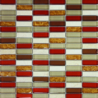Accord Bronze Copper Glass Mosaic Tiles