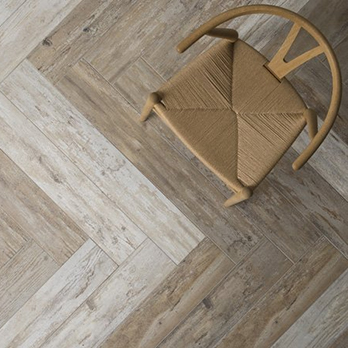 Real wood effect tiles
