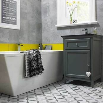 HD Concrete Mid Grey Wall Tiles