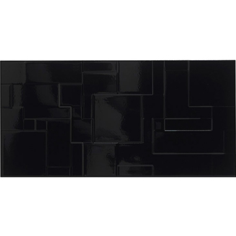 Form Patchwork Black Gloss Wall Tiles