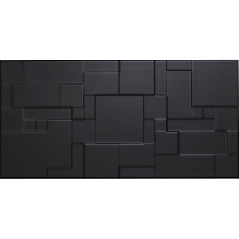Form Patchwork Black Satin Wall Tiles