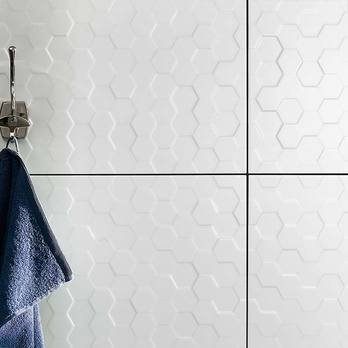 Function and Form Hex White Matt Wall Tiles