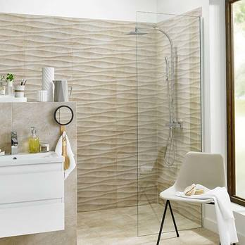 HD Accolade Oak Wave Beige Wall Tiles