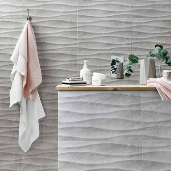 HD Accolade Grey Wave Wall Tiles