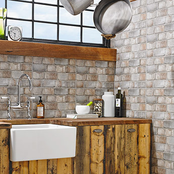 HD Paragon Red Rustic Brick Effect Wall Tiles