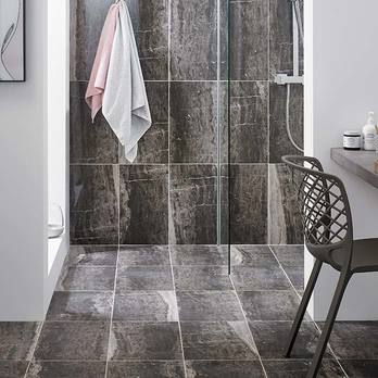 HD Ultra Medal Matt Multiuse Brown Marble Effect Tiles