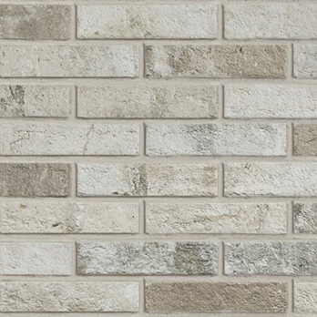 White Modern brick effect tiles