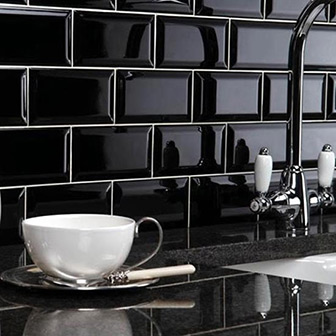Black Brick Effect Wall Tiles