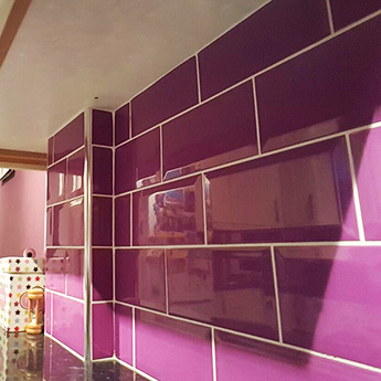 Purple Metro Brick Effect Wall Tiles