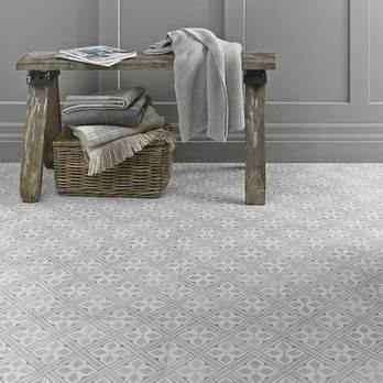 Laura Ashley Mr Jones Dove Grey Floor Tiles