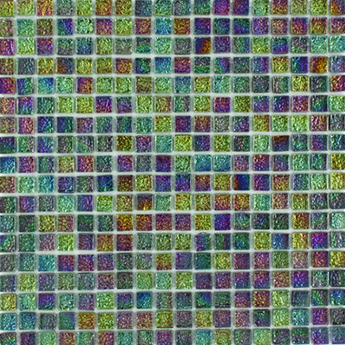 Chromatic Harlequin Glass Mosaic Tiles