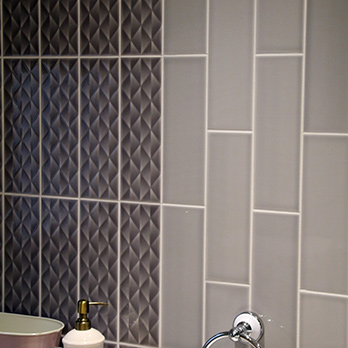 Savoy Dew Gloss Grey Brick Effect Wall Tiles