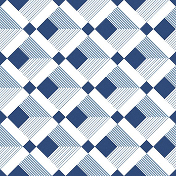 Soho Blue Square Decor Matt Ceramic Wall Tiles