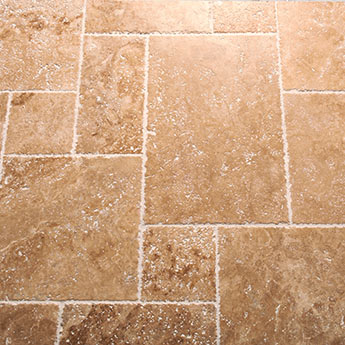 Acquire a Unique Look at a Low Cost with French Pattern Travertine